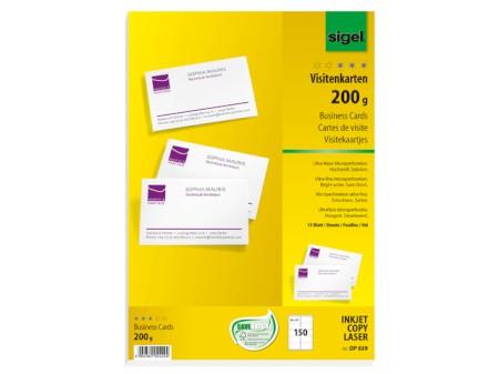 Pc Visitenkarten Inkjet Laser Copy Hochweiß Papier 200 G