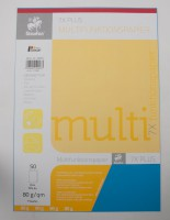 Multifunktionspapier 7X Colors, DIN A4, 80 g/qm, intensiv blau, 50 Blatt