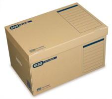 Premium Archiv-Schachtel mit Verschlusslasche natronbraun; DIN A4; B x H x T ...