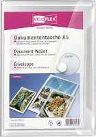 Dokumentenhülle Serie Crystal, keine Lochung, A5, PP, transparent