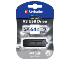 USB-Sticks V3 Store'n'Go Serie 64 GB, grau