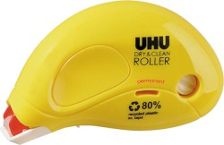 UHU DRY & CLEAN ROLLER permanent, 8,5 m x 6,5 mm, Infokarte