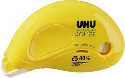 UHU DRY & CLEAN ROLLER non-permanent, 8,5 m x 6,5 mm, Infokarte