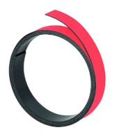 Magnetband, 1 m x 10 mm, 1 mm, rot