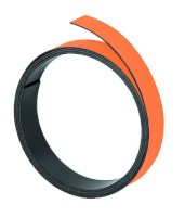 Magnetband, 1 m x 10 mm, 1 mm, orange