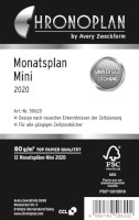 Chronoplan Monatsplan Mini 2020